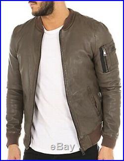 Redskins Banks Rocho Bombers veste manteau blouson cuir véritable coupe ajusté L