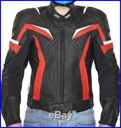 Reduit IXS RX NOIR ROUGE VESTE EN CUIR pour Hommes Blouson moto taille 52 SPORT