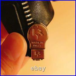 Rick Owens Cuir Simple Motards Veste Extérieur Blouson Noir Hommes USA XS De Zip