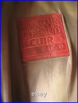 Ruffo made in Italy Marithé & François Girbaud blouson cuir 42 L Leder Jacke