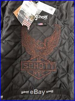 SCHOTT N. Y. C, veste, blouson en cuir d'agneau, taille M