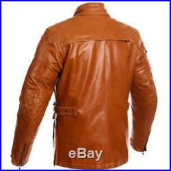 SEGURA blouson veste moto MOORE cuir homme VINTAGE toutes saisons étanche camel