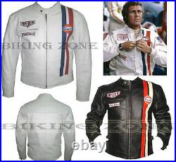 STEVE McQUEEN STYLE POUR HOMMES CE PROTECTION MOTO / VESTE CUIR MOTO