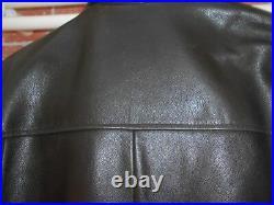 SUPERBE BLOUSON cuir REDSKINS T 46 / L FRANCAIS marron foncé +++ A 129 ACH I