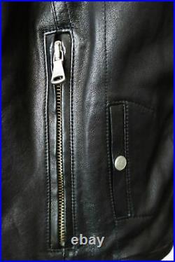 SUPERBE BLOUSON en CUIR noir perfecto GIANFRANCO FERRE Taille S 36 état NEUF