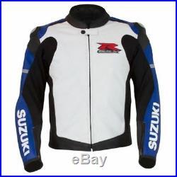 SUZUKI GSXR Moto Cuir Veste Hommes Sports Cuir Veste Cuir Biker Veste EU-50-60