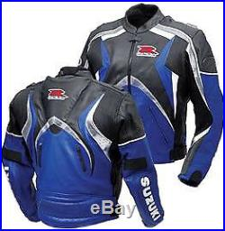SUZUKI GSXR Sports Cuir Veste Cuir Moto Hommes Motard Armure Protection EU-50-58