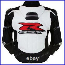 SUZUKI GSXR Veste Motard en Cuir Veste en Cuir de Moto Veste en Cuir de Motard