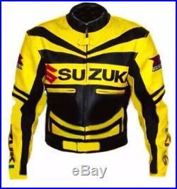 SUZUKI GSXR Veste en Cuir Motard Veste en Cuir de Moto Veste de Motard en Cuir