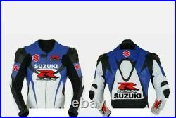 SUZUKI GSXR Vetement En Cuir Motobike Hommes Biker Cuir Veste Moto Cuir Veste 52