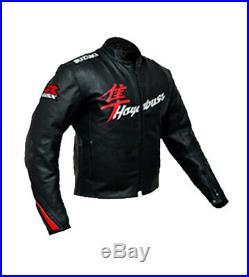 SUZUKI HAYABUSA Moto Cuir Veste Cuir Biker Veste Courses Sports Cuir Veste EU-56