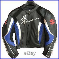 SUZUKI HAYABUSA Moto Cuir Veste Hommes Sports Cuir Veste Cuir Biker Veste EU-56