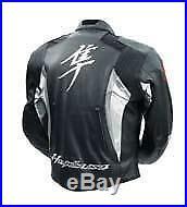 SUZUKI HAYABUSA Moto Veste Cuir Sports Motard Courses Armure Protecteur EU-50-58