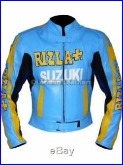 SUZUKI RIZLA Moto Veste Cuir Motard Course Moto Sport Armure Protecteur EU-50-58