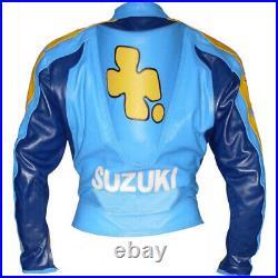 SUZUKI RIZLA Veste en Cuir Motard Veste de Motard en Cuir Veste en Cuir de Moto
