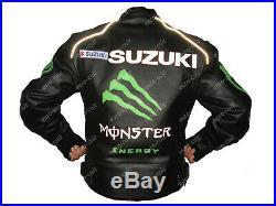 SUZUKI Veste de Motard en Cuir Veste en Cuir Motard Veste en Cuir de Moto EU-50