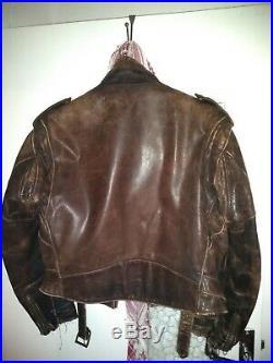 Schott 1980 Perfecto Étiquette Cuir Blouson Taille 46 Vintage USA