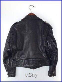 Schott 1980s Perfecto Étiquette Veste Cuir Blouson Taille 38 M Vintage de Japon