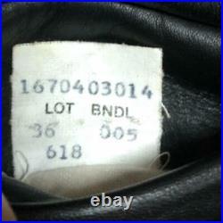 Schott Double Motards Veste Extérieur Blouson 618 Homme Taille 36 Cuir Harley