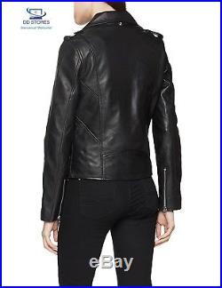 Schott NYC LCW 1601D Blouson Veste en cuir Manches Longues Femme