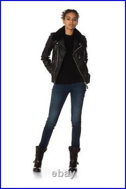 Schott Nyc Blouson Perfecto Neuf Femme Lcw2607 Cuir D'agneau Black T XL 42