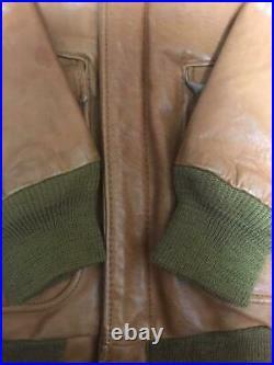 Schott Veste Cuir Blouson Chameau Vert Olive Motard Cavalier Homme 36 De Japon