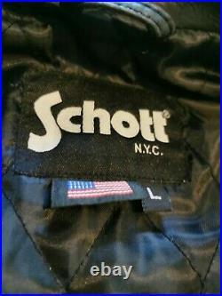 Schott blouson cuir noir homme L état neuf