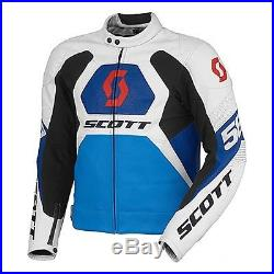 Scott Blouson Moto Course Biellette Veste En Cuir Fin De Stocks