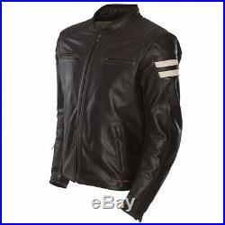 Segura Classique Veste de Moto en Cuir Rétro Marron-Beige L Comme Neuf