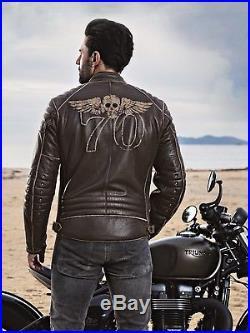 Segura Veste en Cuir Boomer TAILLE L Marron Marron Blouson Moto Neuf