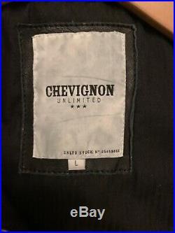 Superbe Blouson En Cuir Veritable Chevignon L