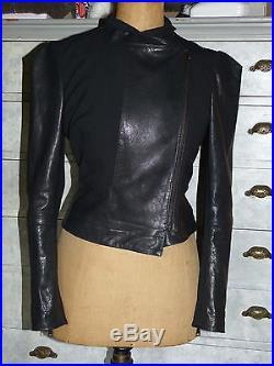 Superbe Veste Blouson Perfecto En Cuir Noir Vivienne Westwood T I 42 F 38 Neuve