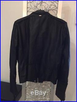 Superbe Veste Blouson en cuir noir IKKS T. M Valeur475 NEUF