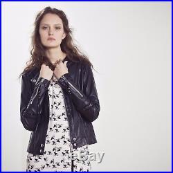 Superbe Veste Blouson perfecto en cuir noir IKKS T. M Valeur475 NEUF
