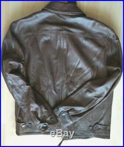 Superbe blouson en cuir marron homme Ralph Lauren Taille M Neuf 100%
