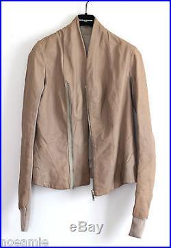 Superbe veste en cuir RICK OWENS T. 40 IT44 UK12 blouson