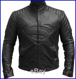 Superman Smallville Veste en cuir pour hommes veste de motard veste de moto
