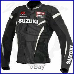 Suzuki GSXR Hommes Moto Veste en Cuir Courses MOTOGP Vestes de Motard en Cuir CE