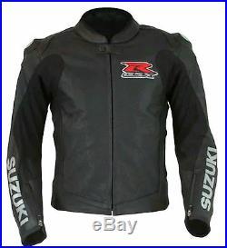 Suzuki GSXR Veste en cuir moto Sports Rider Veste moto Toutes les tailles
