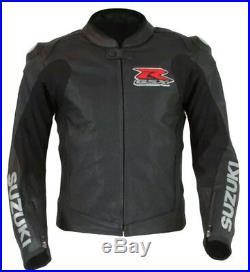 Suzuki Gsxr Biker Cuir Veste Moto Cuir Veste Vêtement En Cuir Motorbike Eu 48,56