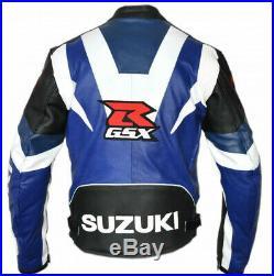 Suzuki Gsxr Motor Veste En Cuir Moto Chaqueta De Cuero Motorrad Leder Jacke