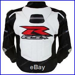 Suzuki Gsxr Vêtement En Cuir Motorbike Biker Cuir Veste Moto Cuir Veste Eu 50,60
