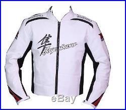 Suzuki Hayabua Biker Cuir Veste Moto Cuir Veste Vêtement En Cuir Motorbike Eu-56
