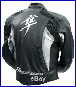 Suzuki Hayabusa Moto Cuir Veste Biker Cuir Veste Vêtement En Cuir Motorbike