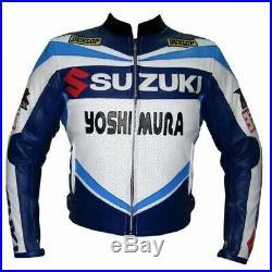 Suzuki Homme Motor Veste En Cuir Moto Chaqueta De Cuero Motorrad Leder Jacke Ce