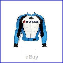 Suzuki Veste en cuir moto Sports Rider Veste moto Toutes les tailles