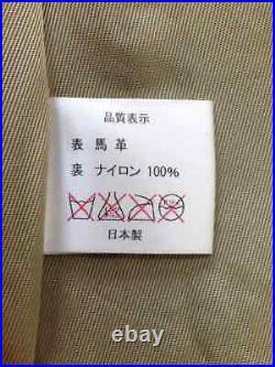 THE FLAT HEAD Cuir de Cheval Cuir A-2 Vol Veste Blouson Marron 36 Utilisé Japon