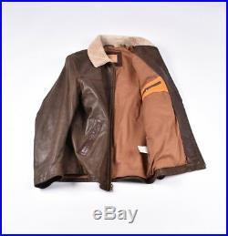 Timberland Vintage Hommes Cuir Vol Pilote Veste Blouson Manteau Taille M