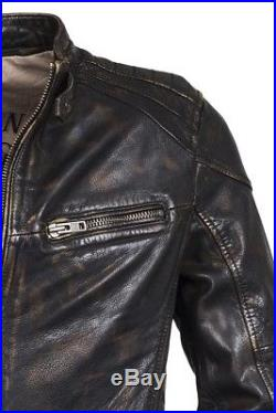 Trapper homme Vintage BUFFALO Veste en cuir, blouson motard
