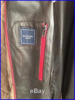 Très rare veste, blouson, 100 % cuir Ferrari 3XL marron made in Italie neuve